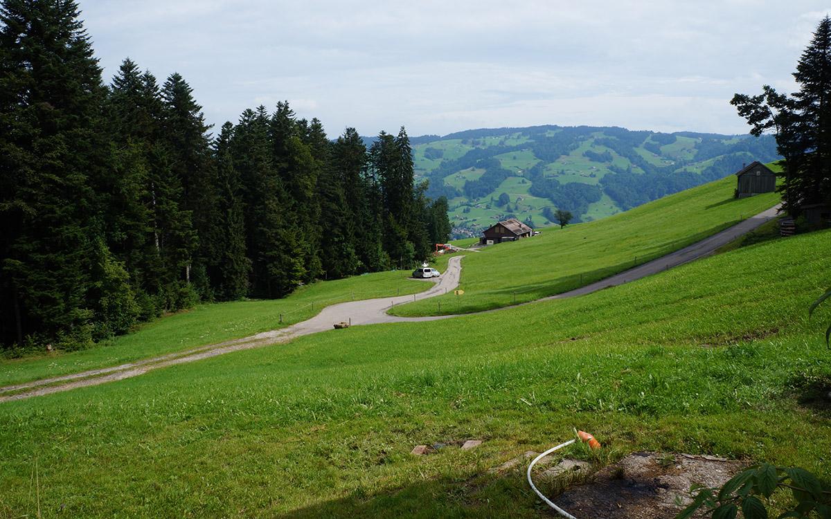 Aussicht von der Hütte nach Ebnat-Kappel.