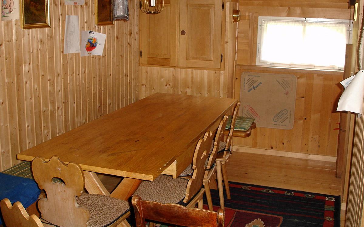 Die Küche ist auch Ess- und Wohnraum.