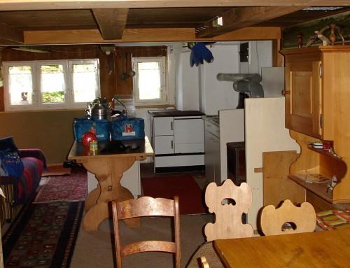 Die Küche ist auch Ess- und Wohnraum