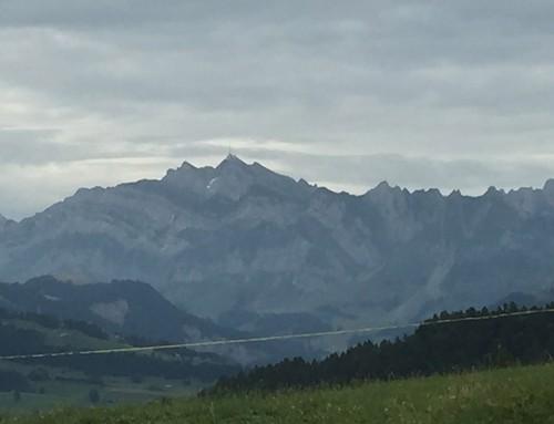 Ein Blick aufs Alpsteingebirge mit dem Säntis.