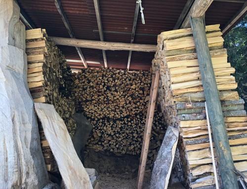 Das Holzlager ist gefüllt – der Winter kann kommen.
